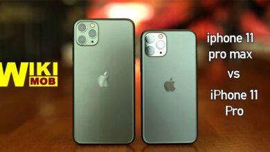 صورة مقارنة بين ايفون 11 برو و ايفون 11 برو ماكس