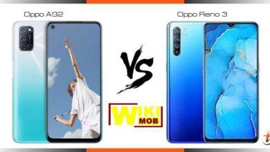 صورة مقارنة اوبو رينو 3 و اوبو a92