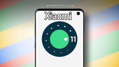 صورة هواتف شاومي مع اندرويد 11