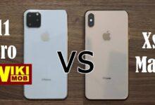صورة مقارنة بين ايفون 11 برو وايفون XS Max