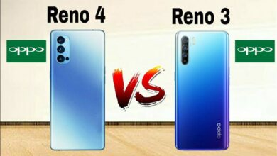 صورة مقارنة بين اوبو رينو 4 و اوبو رينو 3