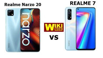 صورة مقارنة بين ريلمي 7 وريلمي نارزو 20