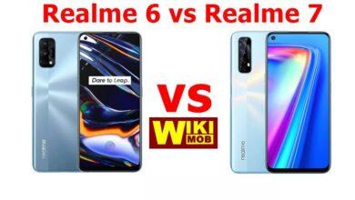 صورة مقارنة بين ريلمي 7 وريلمي 6