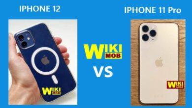 صورة مقارنة بين ايفون 12 و ايفون 11 برو