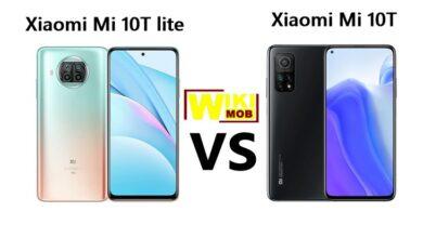صورة مقارنة بين شاومي مي 10 تي و شاومي مي 10 تي لايت