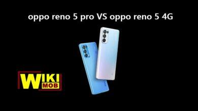 صورة مقارنة بين اوبو رينو 5 واوبو رينو 5 برو