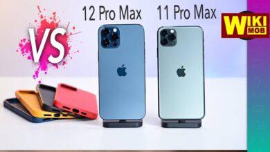 صورة مقارنة بين ايفون 12 برو ماكس وايفون 11 برو ماكس