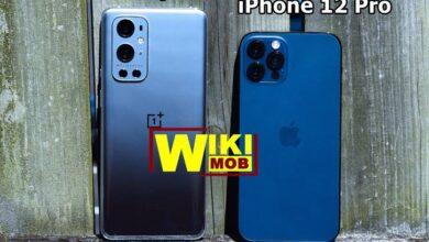 صورة مقارنة بين ون بلس 9 برو و ايفون 12 برو