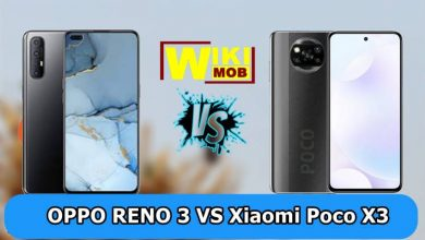 صورة مقارنة بين اوبو رينو 3 و شاومي بوكو اكس 3