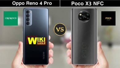 صورة مقارنة بين اوبو رينو 4 برو و شاومي بوكو اكس 3