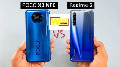 صورة مقارنة شاومي بوكو اكس 3 و ريلمي 6