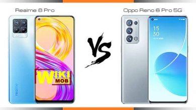 مقارنة بين RENO 6 5g و realme 8 pro