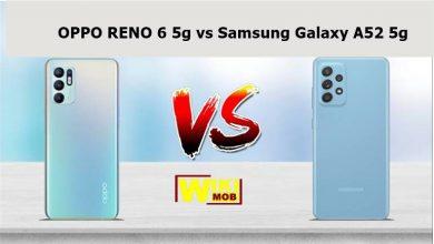 مقارنة بين RENO 6 5g و Samsung A52 5g