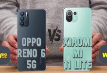 مقارنة بين reno 6 5g و Xiaomi Mi 11 Lite