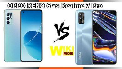 صورة مقارنة بين اوبو رينو 6 و ريلمي 7 برو