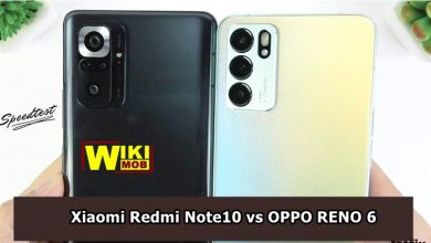 صورة مقارنة بين اوبو رينو 6 و شاومي ريدمي نوت 10