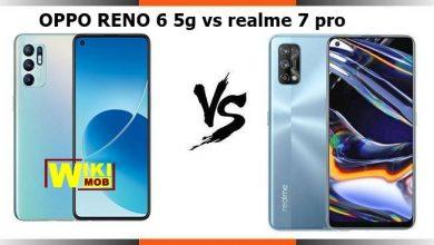 صورة مقارنة بين ريلمي 7 برو و اوبو رينو 6 فايف جي