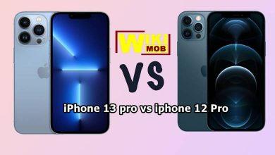 صورة مقارنة بين ايفون 12 برو و ايفون 13 برو