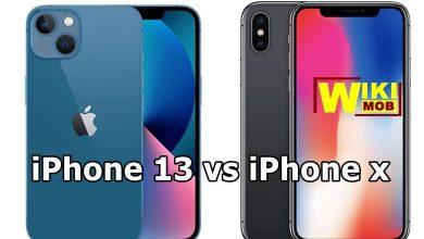 صورة مقارنة بين ايفون اكس و ايفون 13