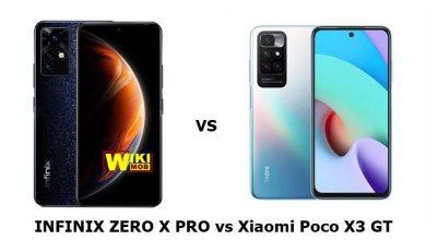 مقارنة بين انفنيكس زيرو اكس برو و شاومي بوكو اكس 3 جي تي
