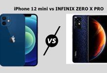 مقارنة بين انفنيكس زيرو اكس برو و ايفون 12 ميني
